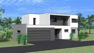 maison architecte toit plat avie home With maison toit plat en l