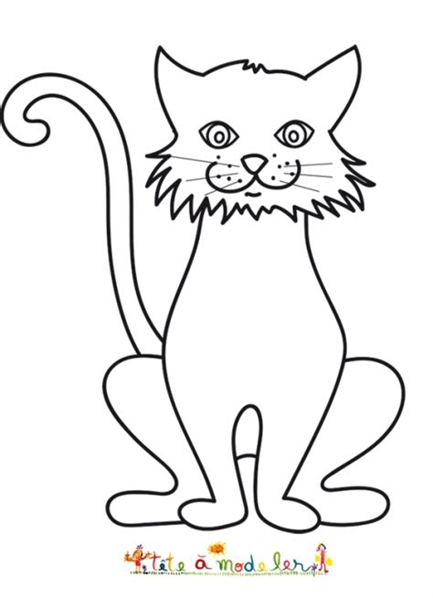 autre dessin du grand chat coloriage chat t 234 te 224 modeler