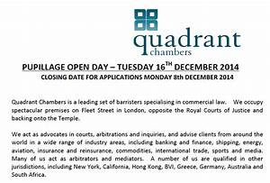 quadrant chambers pupillage open day future lawyer With mini pupillage covering letter