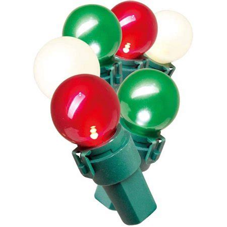 pearl christmas lights time lite lock led pearl ized glass g15 lights white and green 70 count