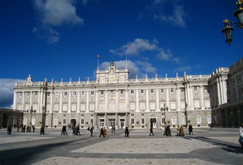Exterior Of The Royal Palace Of Madrid, General View