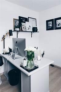 Büro Zuhause Einrichten : arbeitsplatz zuhause einrichten 5 ideen f r mehr stil im blogger home office ~ Frokenaadalensverden.com Haus und Dekorationen