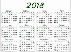 2018 Yearly Calendar Template Printable Letter Template