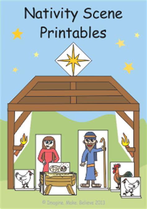 play  paper nativity scene printables imagine