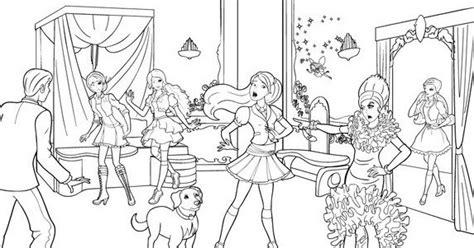 gambar mewarnai barbie princess charm school terbaru