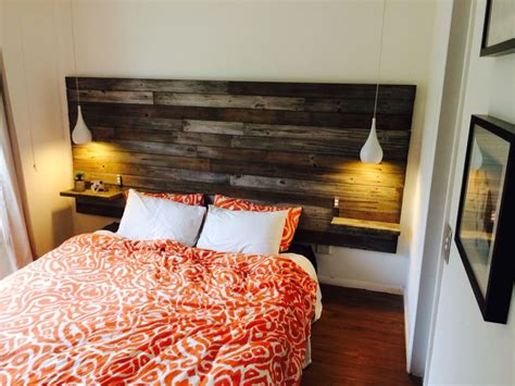 diy headboard with lights simple unique ideas for the stylish yet cheap diy wood