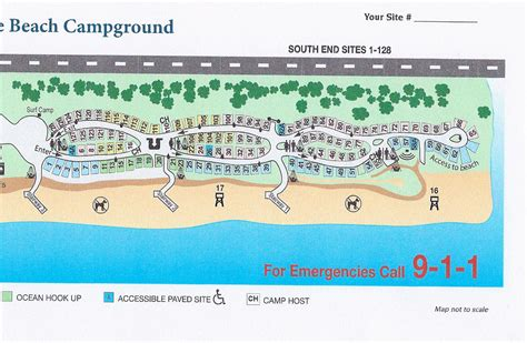 San Elijo Camp Map  South End  The Camp Site Your