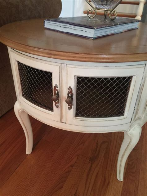 french provincial  tableround  table painted
