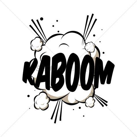 Kaboom Comic Wording Vector Image Stockunlimited