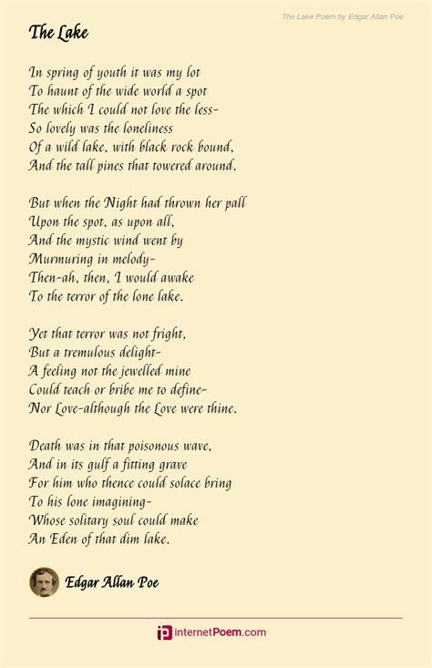 lake poem  edgar allan poe