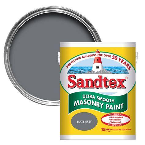 Sandtex Slate Grey Matt Masonry Paint 5L   Departments
