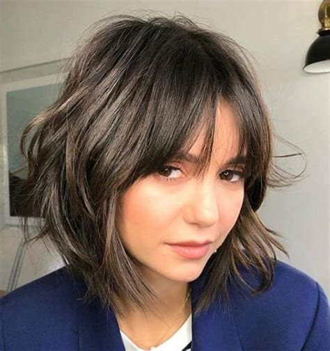 Layered bob with bangs Growing out a pixie cut Short