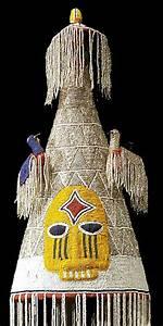 Yoruba Beaded Crown 33  Nigeria