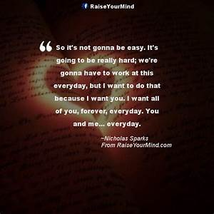 So it's not gonna be easy. It's going to be really hard ...