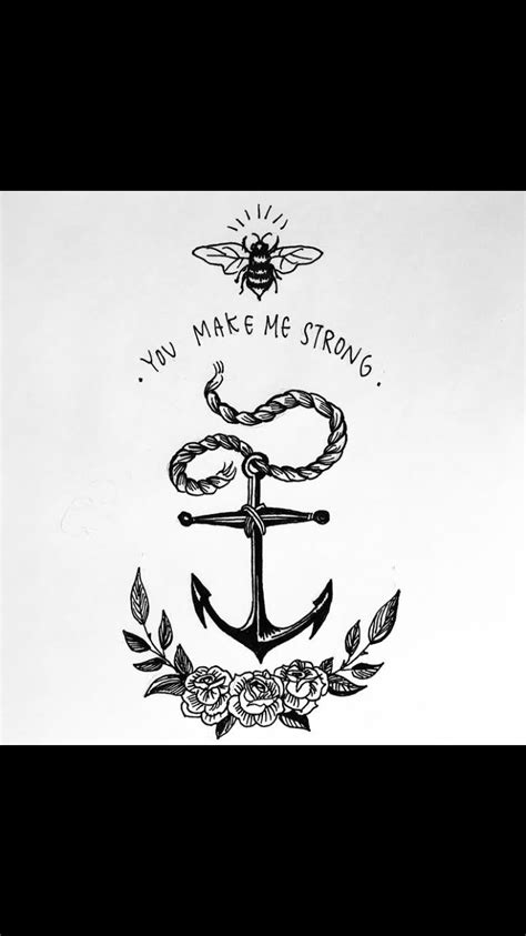 Anchor | Beach stones | Fountain pen drawing, Compass tattoo, Leg tattoos