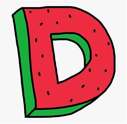 Letter Alphabet Watermelon Dope Clipart Cartoon Oddfuture