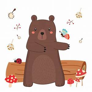 Cute bear vector Vector | Premium Download