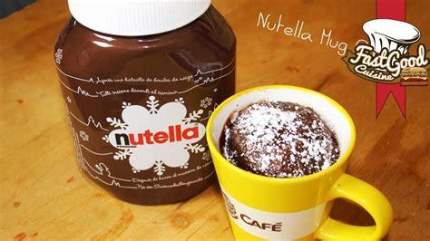 cuisine au mug recette facile nutella mug cake