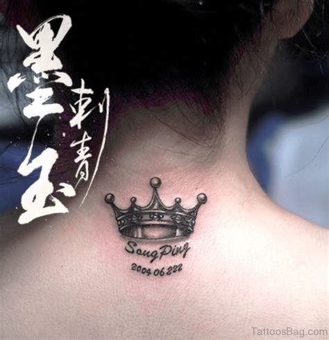 adorable crown tattoos  neck