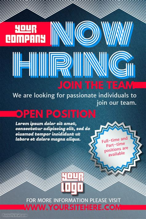 now hiring flyer template hiring poster templates postermywall