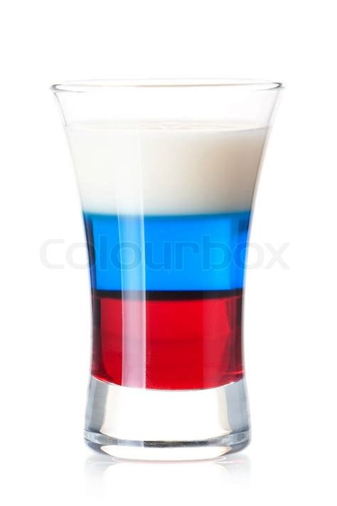 shot cocktail collection russian flag alcohol cocktail