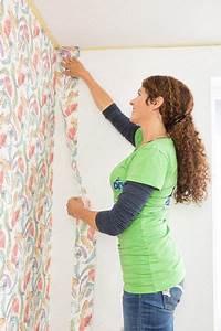 Tapezieren Für Anfänger : tapezieren mit der miss do it yourself w nde in 2019 tapezieren renovieren und tapeten ~ Orissabook.com Haus und Dekorationen
