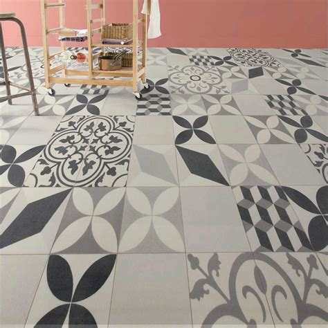 lino carreaux de ciment castorama decoration d interieur idee