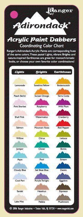 adirondack acrylic paint dabber coordinating color chart