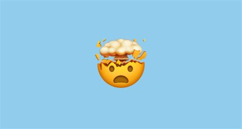 shocked face  exploding head emoji