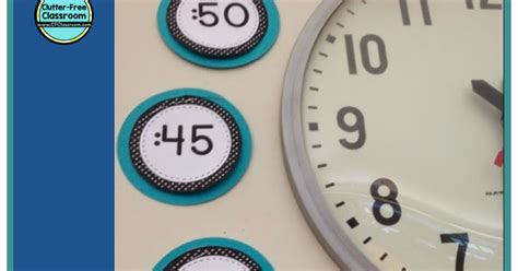 Printable Classroom Clock Labels To Teach Telling Time