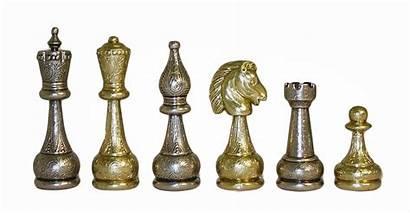 Metal Chess Staunton Pieces 82m
