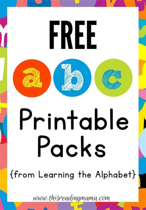 abc printable packs learning  alphabet abc