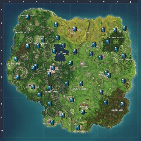 fortnite news  twitter updated vending machine map
