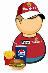 Clipart - Fastfood worker