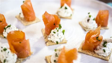 salmon canapes smoked salmon canape