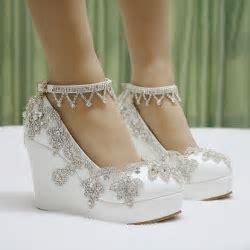 Wedding Wedge Shoes   Pink Wedding