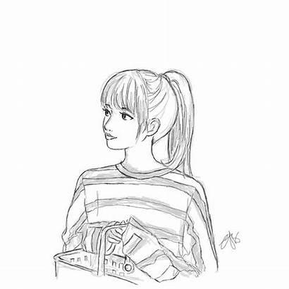 Blackpink Lisa Kpop Drawings Lineart Fanart Lalisa