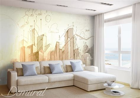 architects notebook architecture wallpaper mural