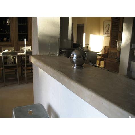 cuisine beton cire bois béton ciré cuisine et plan de travail beton