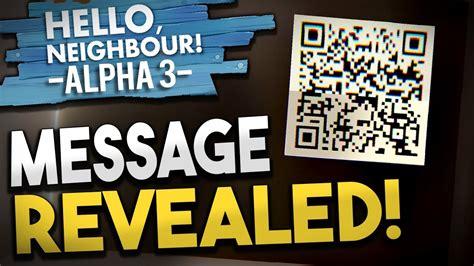 neighbor secret message  qr codes