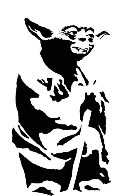 yoda stencil template star wars pinterest stencils