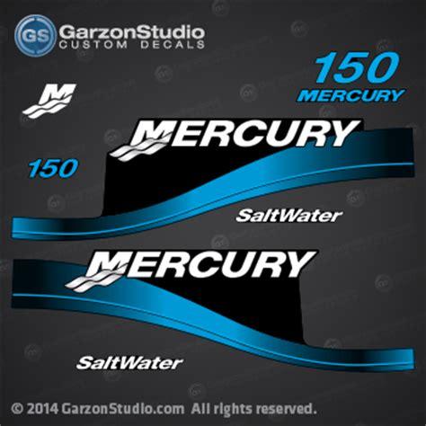 mercury  hp saltwater decal set   blue
