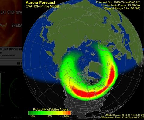 northern lights canada forecast noaa aurora visible vancouver week tonight located daily screen above could