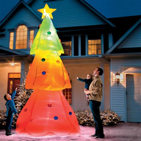giant inflatable color changing christmas tree  green