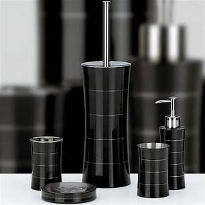 Badezimmer Set Seifenspender : 5tlg schwarz edelstahl badezimmer set bad garnitur badset b rste seifenspender ebay ~ Sanjose-hotels-ca.com Haus und Dekorationen