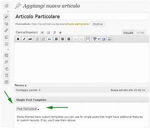 Single post template per wordpress for Wordpress single post page template