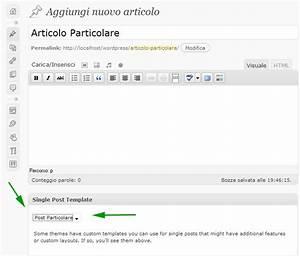 single post template per wordpress With wordpress single post page template