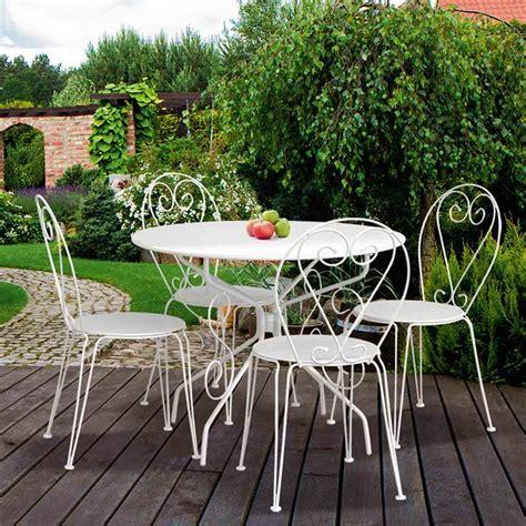 chaise en metal forge blanche dya shoppingfr