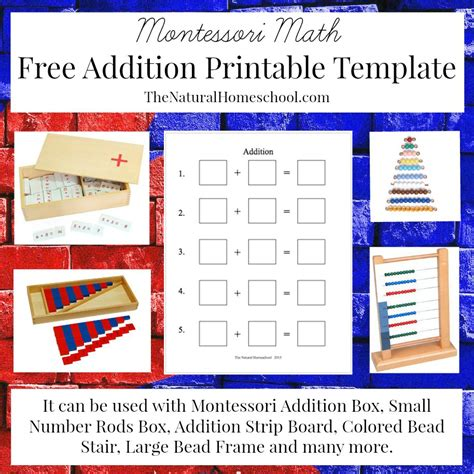 free montessori math addition printable money saving 174