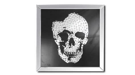 tableau miroir carr 233 avec t 234 te de mort aratika mobilier moss